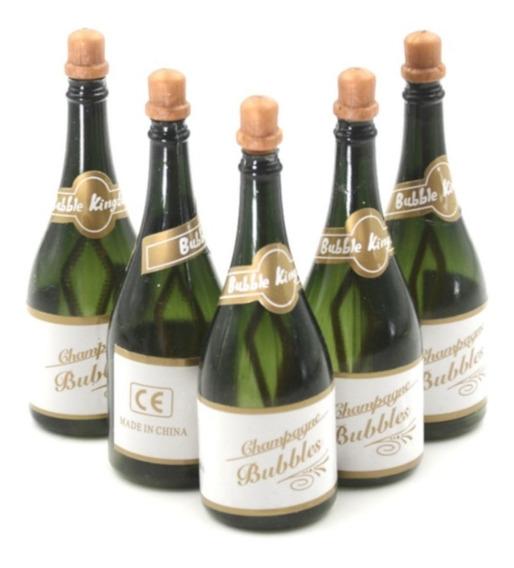 24 Burbujeros O Burbujas De Gel: Botella Champagne Fiesta