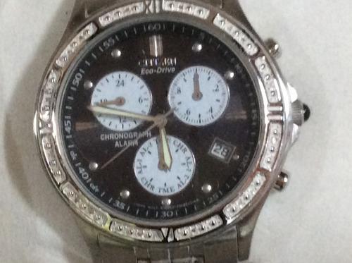 Luxuoso Relógio Citizen Diamantado Eco Drive Unisex 38 Mm