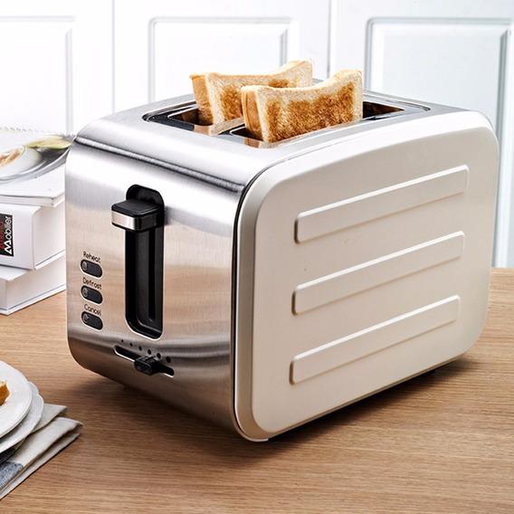 Máquina De Desayuno De Acero Inoxidable Para Tostar Cocció