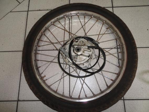 Roda Com Pneu Xl 125 Aro 21 E Espelho De Freio