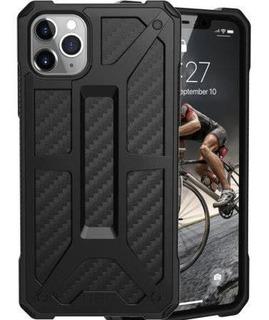 Protector De iPhone 11 Pro Max Color Gris Transparente Y Neg