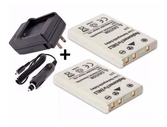 Kit 2 Baterias + Carregador En-el5 Enel5 Nikon Coolpix P520
