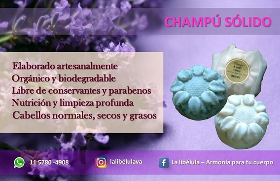 Champú Solido-artesanal Y Orgánico-todo Tipo De Cabellos-libre De Parabenos