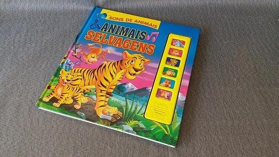 Livro Usado Sons Animais Original Bateria Criança 3-5 Ano