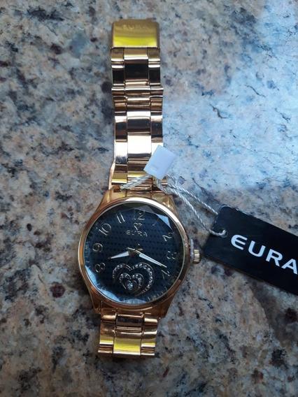Relógio Feminino Analógico Dourado Barato