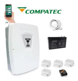 Kit Central Alarme Aw6 - Wifi - 4 Senores Sem Fio Compate.