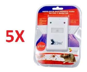 Kit 5 Repelente Eletronico Para Ratos Formigas Aranha Barata