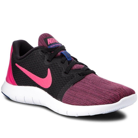 Tenis Nike Flex Contact Mujer Negro Rosa Original Aa7409-003