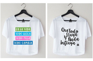 2 Croptop Crop Tops Blusas Sublimadas Para Damas A La Moda