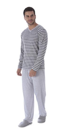 Pijama Inverno Adulto Frio Longo Masculino Roupa Dormir