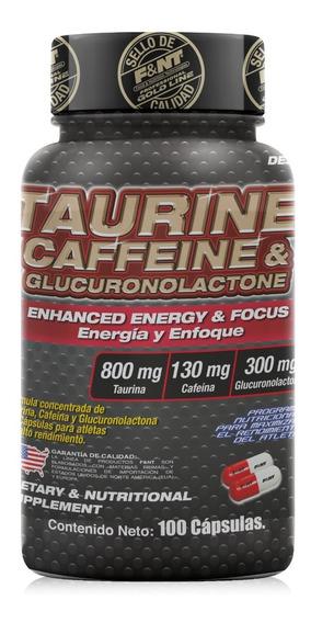 Taurine Caffeine & Glucoronolactone 100 Caps Taurina Cafeina