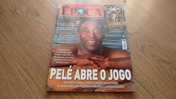 Revista Época 388 Pelé Futebol Política Brasil Santos K842