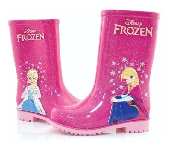 Botas De Lluvia Disney Frozen Rosa 6 Cuotas Sin Interes