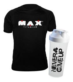Camisa Dry Fit Max + Shaker Branca - Max Titanium