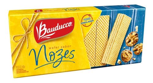 Biscoito Wafer De Nozes Bauducco 140g