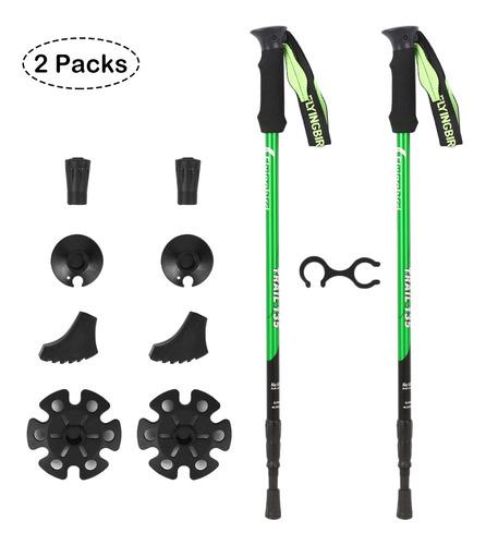 Imagen 1 de 6 de 2 Pack Bastones De Trekking Ajustables Bastones De Aluminio