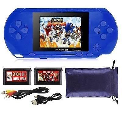 Console Portatil Estilo Psp Vários Jogos Mário E Outros Azul