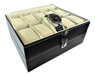 Estuche 20 Relojes Caja Exhibidor Guarda Joyas Relojes Piel