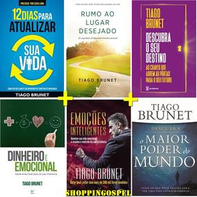 Kit 6 Livros Tiago Brunet - Dinheiro É Emocional E Mais