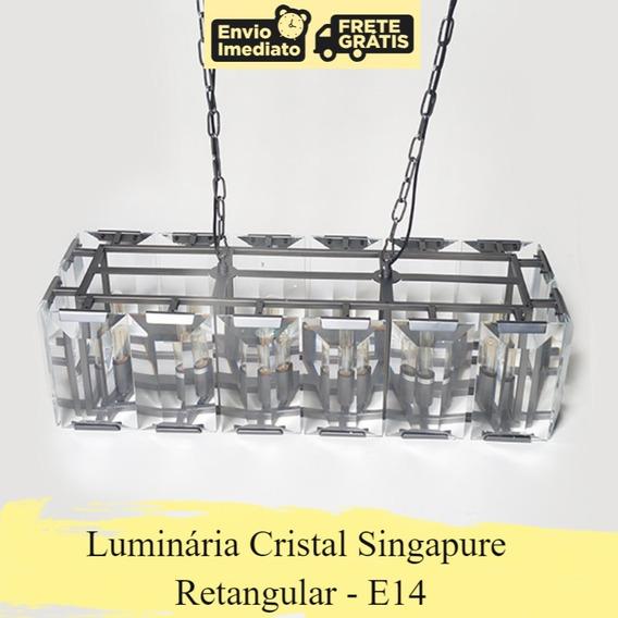 Luminária Cristal Retangular - E14