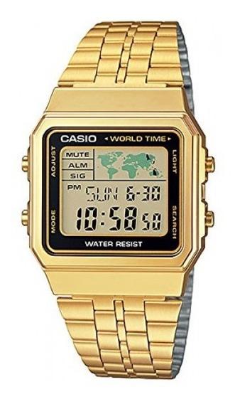 Relógio Casio Retro A500wga 1df Hora Mundial Original Nf