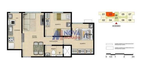 Apartamento Com 2 Quartos Para Comprar No Nossa Senhora Da Penha Em Vila Velha/es - 1543
