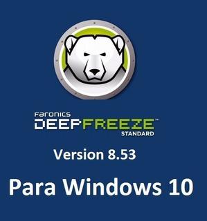 Deep Freeze Ver. 8.53 - Congele Su Pc - Para Windows 10