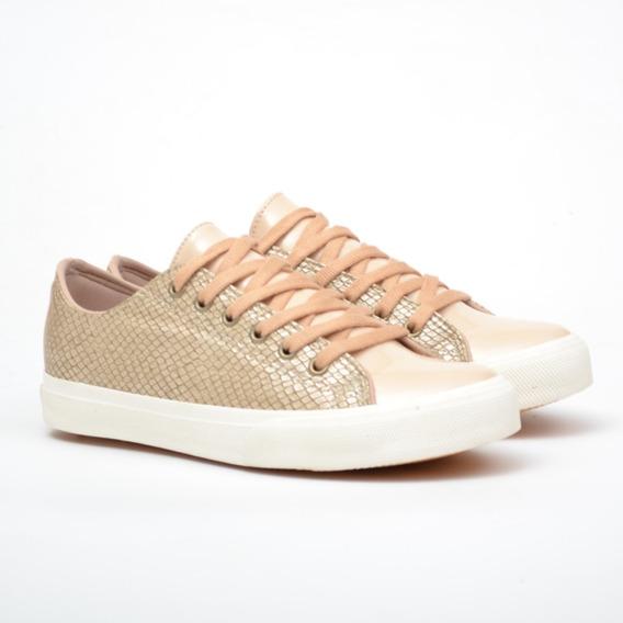Zapatillas Mujer Damas Eco Cuero Diseño Sneakers Goma