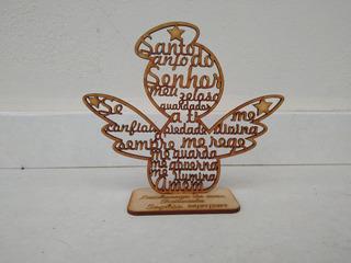 10 Lembrancinha Nascimento Batizado Santo Anjo Personalizado