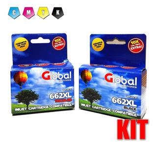 Cartucho Alternativo 662xl 1515 2515 Kit Negro + Color