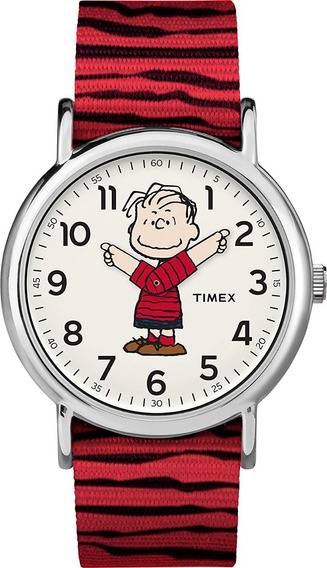 Reloj Timex Linus Peanuts Snoopy Limited Edition Red Rojo Tw