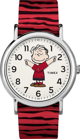Reloj Timex Linus Peanuts Snoopy Limited Edition Red Rojo Tw