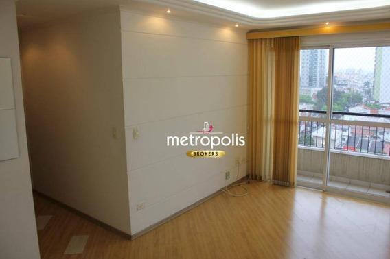Apartamento Com 2 Dormitórios Para Alugar, 68 M² Por R$ 1.800,00/mês - Santo Antônio - São Caetano Do Sul/sp - Ap2443