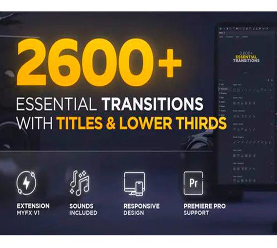 Pack Com + De 2.600 Transições   After & Premiere