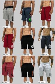 8 Bermuda Moletom Calção Shorts Slim Fit Original Swag Molet