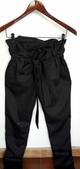 Pantalon De Dama Casual Con Lazo Strech - Al Mayor