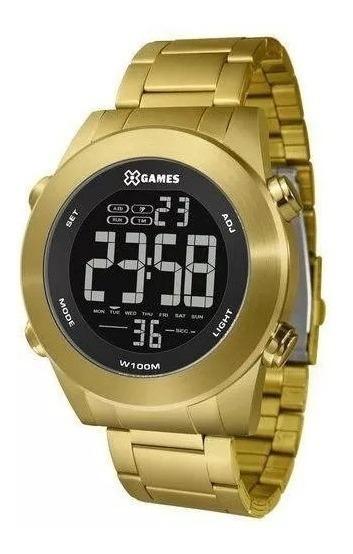 Relógio Original Xgame Digital Dourado Promoção Por R$ 279,9
