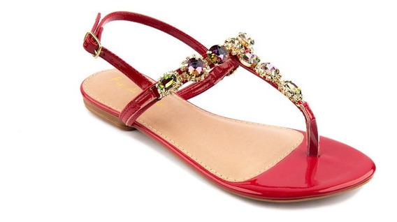 Sapato Infantil Menina Fio De Ouro Vermelha