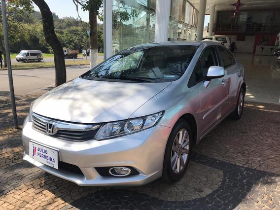 Honda Civic 1.8 Lxs Flex Manual Prata 2013