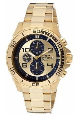 Relógio Invicta 7392 Cronógrafo Em Plaquê De Ouro 18k