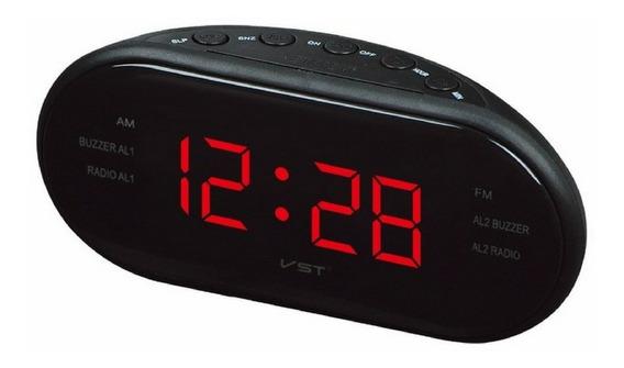 Radio Relogio Digital Fm Despertador Alarme Quarto +oferta
