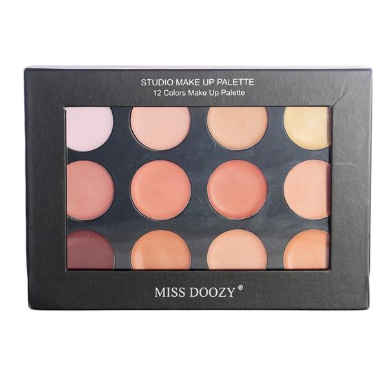 Miss Doozy Paleta De Maquillaje 12 Correctores Cremosos 01
