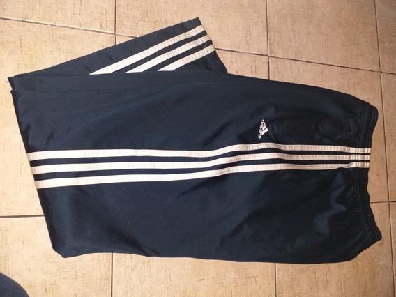Pantalon adidas Gimnasia Acetato Talle M Azul Excelente