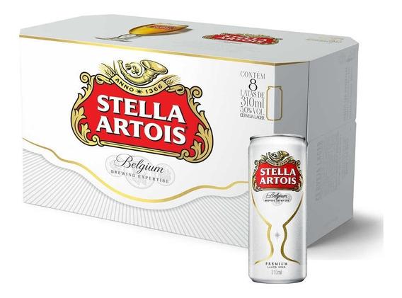 Cerveja Stella Artois 310ml Caixa (8 Unidades)