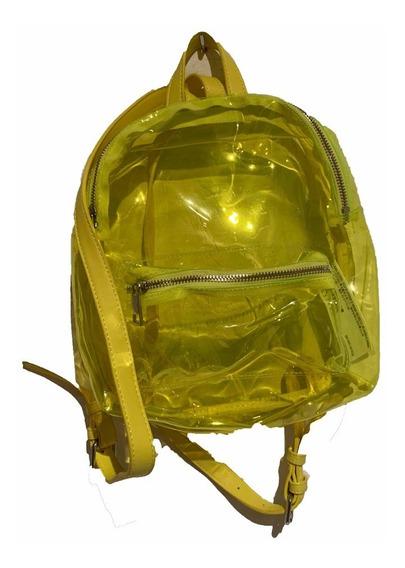 Mochila Transparente Amarilla De Forever 21