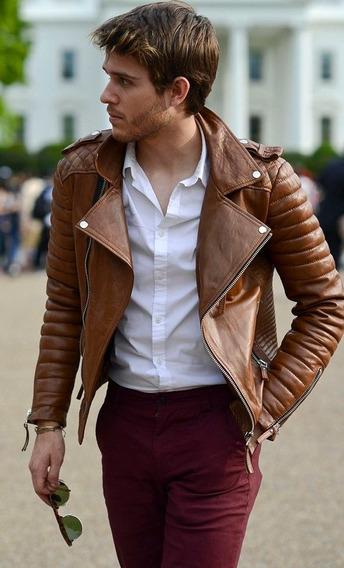 Blusa Casaco Masculina De Couro Importado