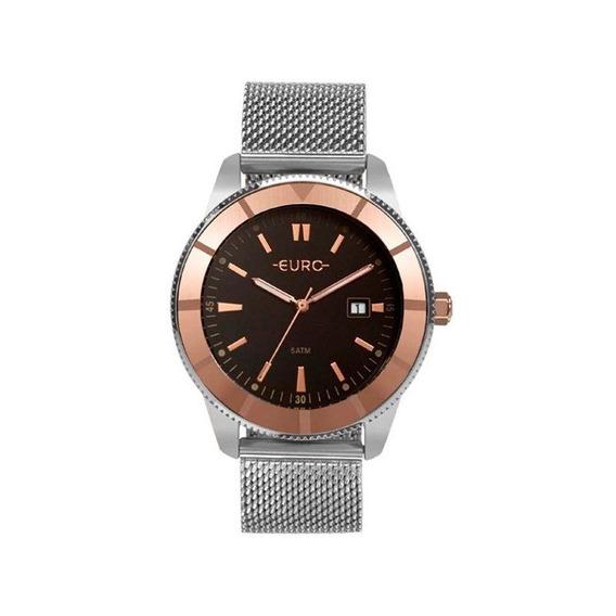 Relógio Euro Feminino Prata/rosê Eu2115ak/5p