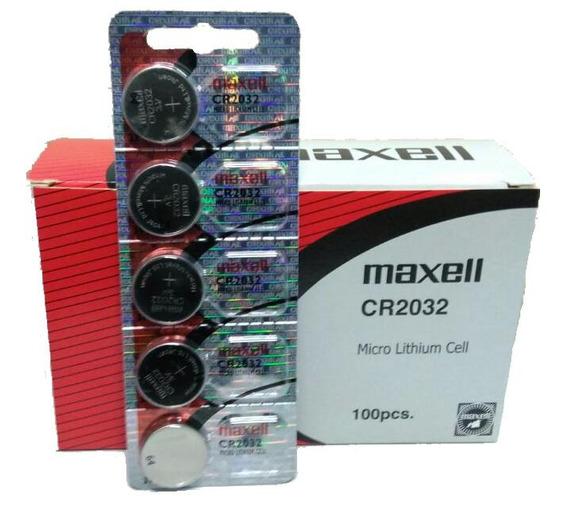 Bateria Cr2032 3v Maxell Prateada Blister 5 Unidades