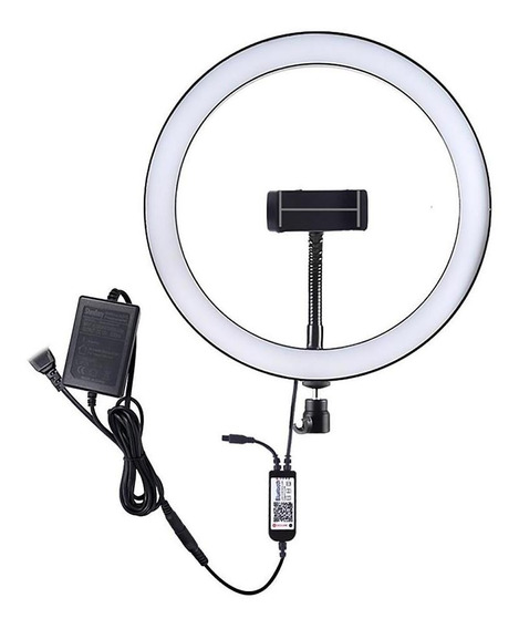 Luz De Anel Selfie Led Dimmable Photo Studio Luz Com Telefon