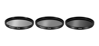 Kit 3 Filtros Polarizado (nd2 Nd4 Nd8) Lente 55 O 58mm